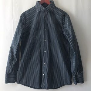 Banana Republic Pin Strip Long Sleeve Button Shirt